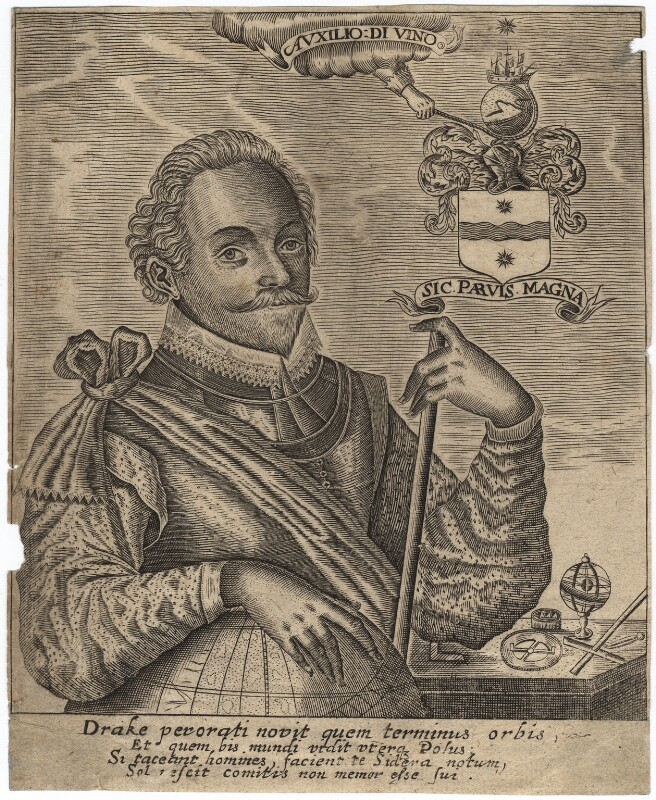 Sir Francis Drake, after Unknown artist, late 16th-early 17th century - NPG D2283 - © National Portrait Gallery, London