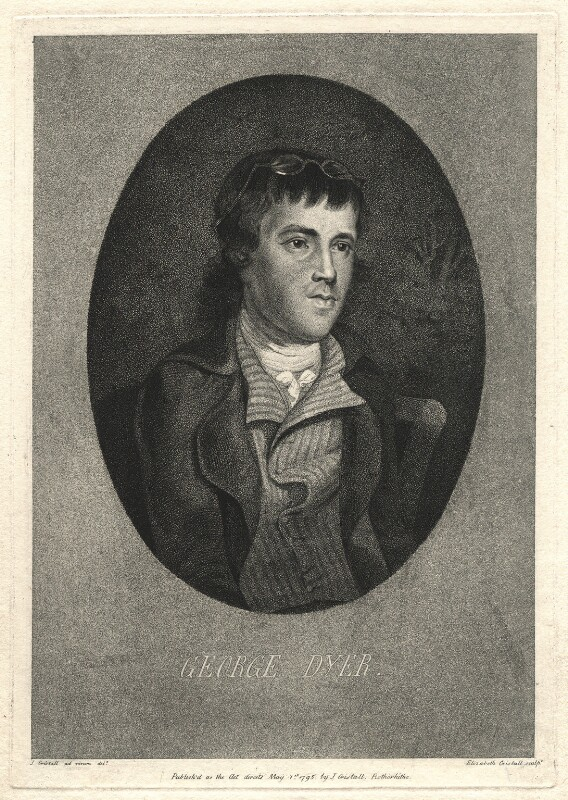 George Dyer, by Elizabeth Cristall, after  J. Cristall, published 1795 - NPG D2293 - © National Portrait Gallery, London