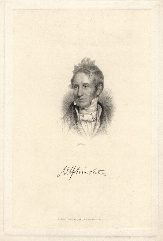 Mountstuart Elphinstone, by George J. Stodart, published by  John Samuel Murray, after  Henry William Pickersgill, late 19th century - NPG D2308 - © National Portrait Gallery, London