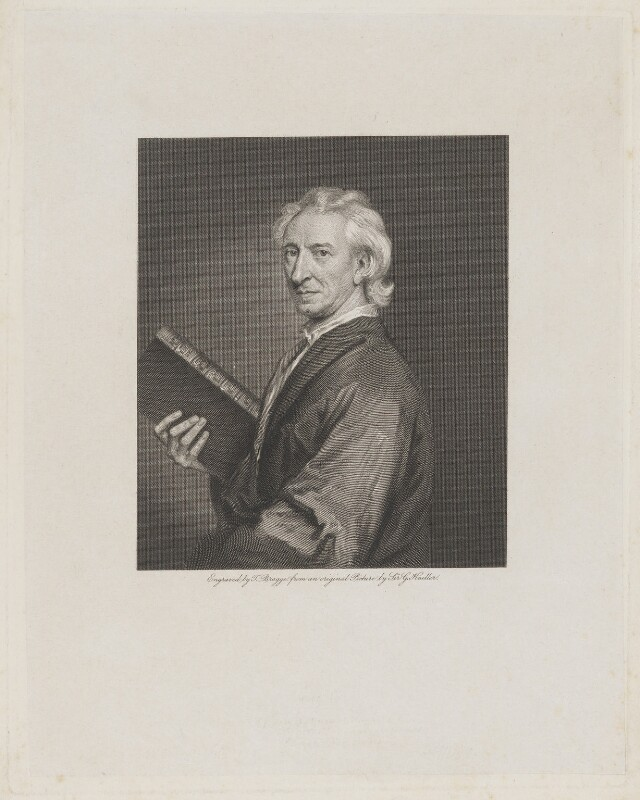 John Evelyn, by Thomas Bragg, after  Sir Godfrey Kneller, Bt, published 1818 - NPG D2317 - © National Portrait Gallery, London