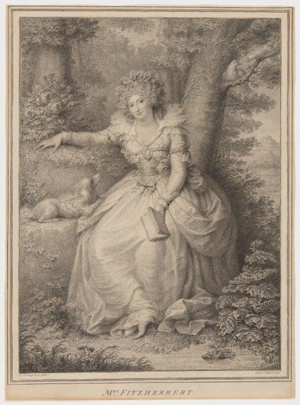 Maria Anne Fitzherbert (née Smythe), by Jean Condé, after  Richard Cosway, published 1792 - NPG D2345 - © National Portrait Gallery, London