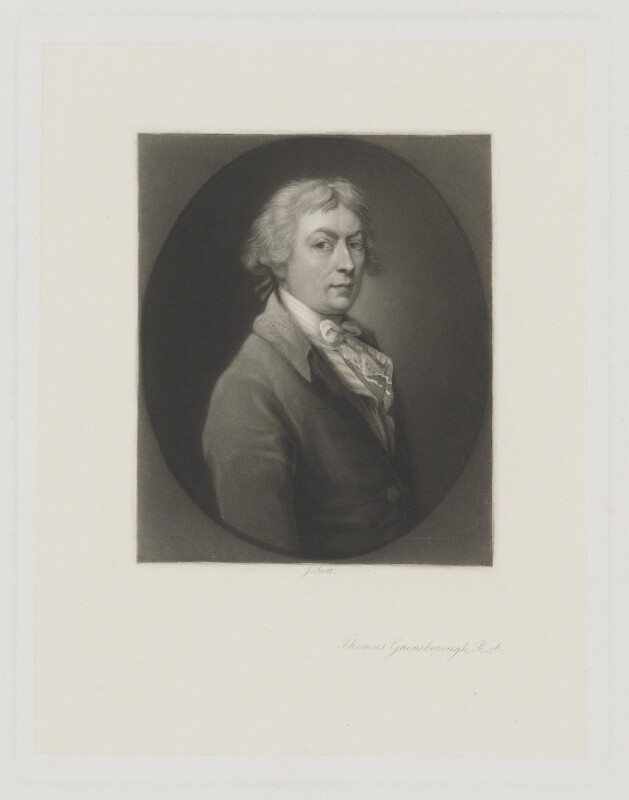Thomas Gainsborough, by James Scott, after  Thomas Gainsborough, 1850s-1880s (1787-1788) - NPG D2411 - © National Portrait Gallery, London