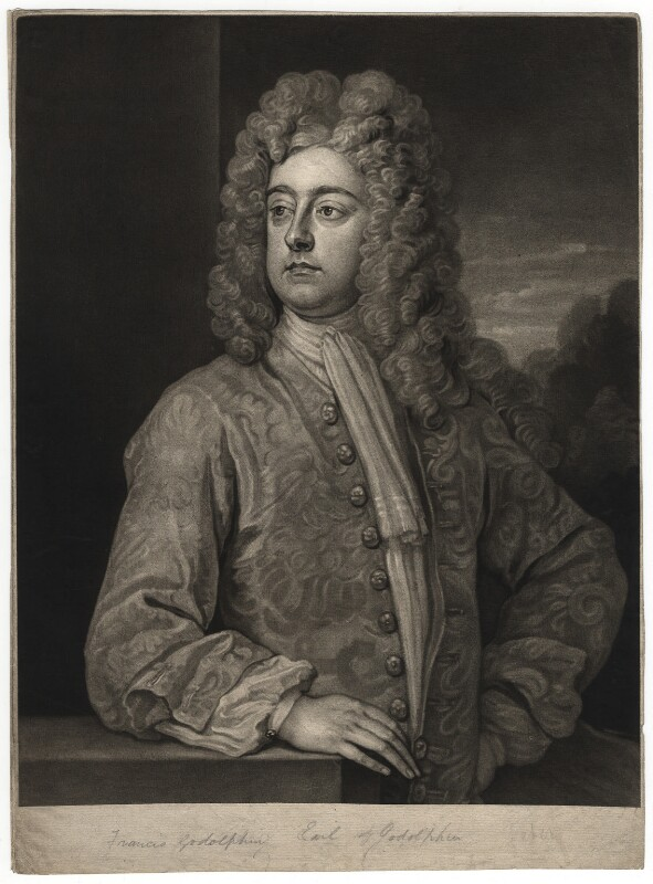 Francis Godolphin, 2nd Earl of Godolphin, by John Faber Jr, after  Sir Godfrey Kneller, Bt, 1732 (circa 1710-1712) - NPG D2444 - © National Portrait Gallery, London