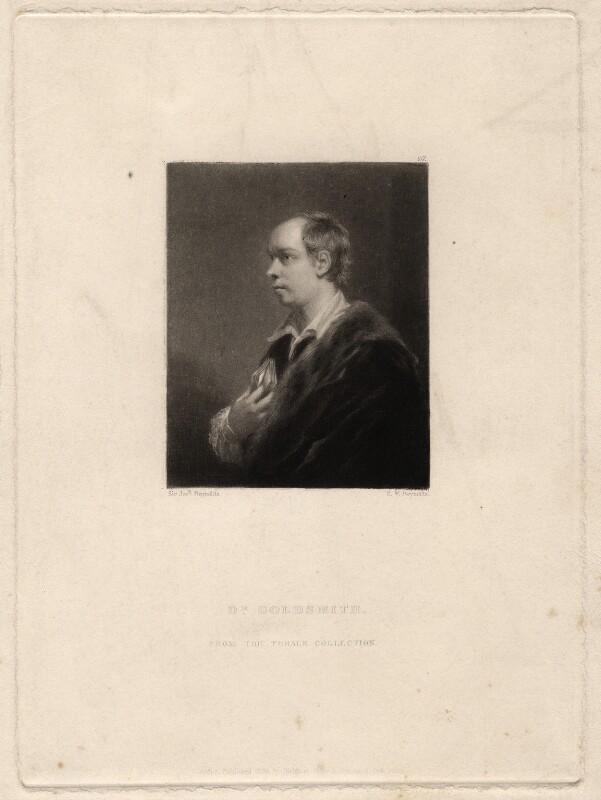 Oliver Goldsmith, by Samuel William Reynolds, published by  Hodgson, Boys & Graves, after  Sir Joshua Reynolds, published 1835 (1770) - NPG D2445 - © National Portrait Gallery, London