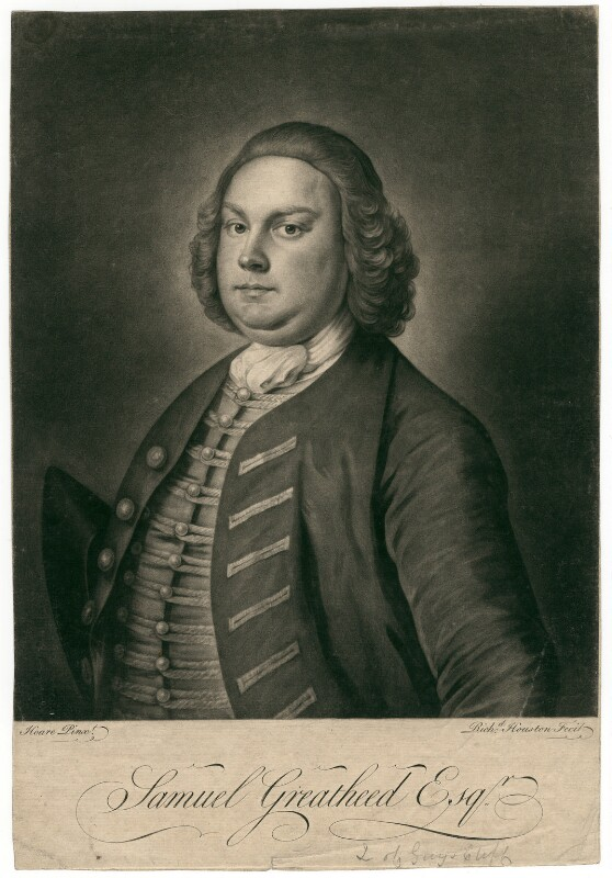 Samuel Greatheed, by Richard Houston, after  William Hoare, mid 18th century - NPG D2485 - © National Portrait Gallery, London