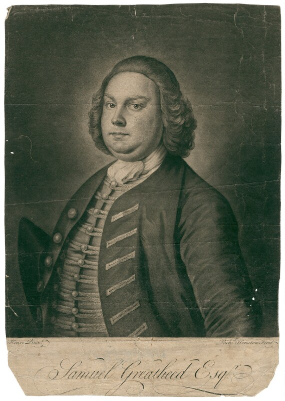Samuel Greatheed, by Richard Houston, after  William Hoare, mid 18th century - NPG D2487 - © National Portrait Gallery, London