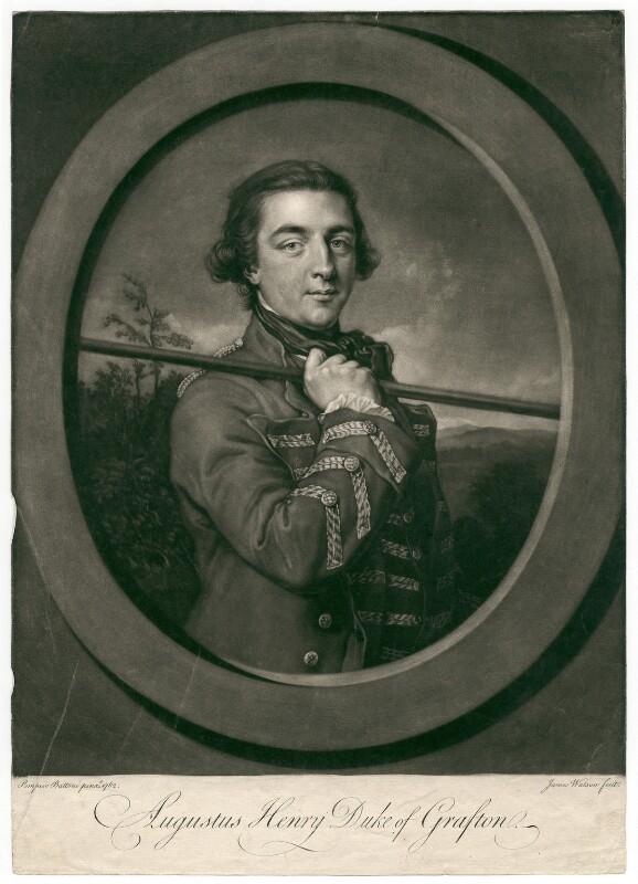 Augustus Henry FitzRoy, 3rd Duke of Grafton, by James Watson, after  Pompeo Batoni, (1762) - NPG D2496 - © National Portrait Gallery, London