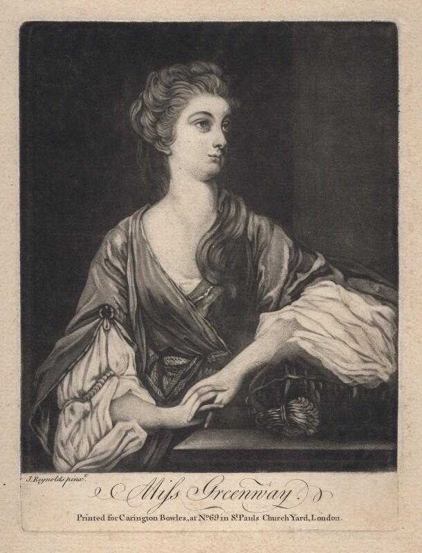 Elizabeth Napier (née Greenway), published by Carington Bowles, after  Sir Joshua Reynolds, (1765) - NPG D2500 - © National Portrait Gallery, London