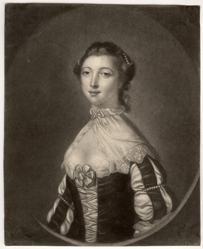 Maria (née Gunning), Countess of Coventry, by Charles Spooner, after  Francis Cotes, 1750s-1760s - NPG D2506 - © National Portrait Gallery, London