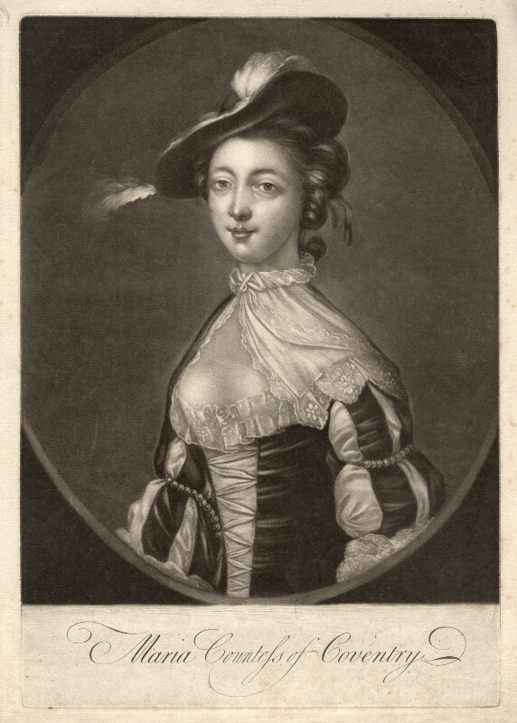 Maria (née Gunning), Countess of Coventry, after Francis Cotes, 1752 or after - NPG D2507 - © National Portrait Gallery, London