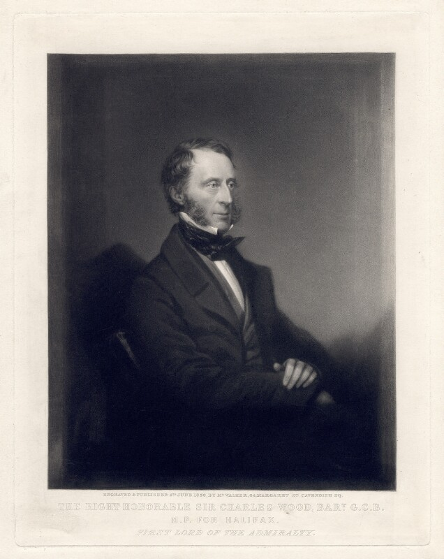 Charles Wood, 1st Viscount Halifax, by William Walker, published 4 June 1856 - NPG D2550 - © National Portrait Gallery, London