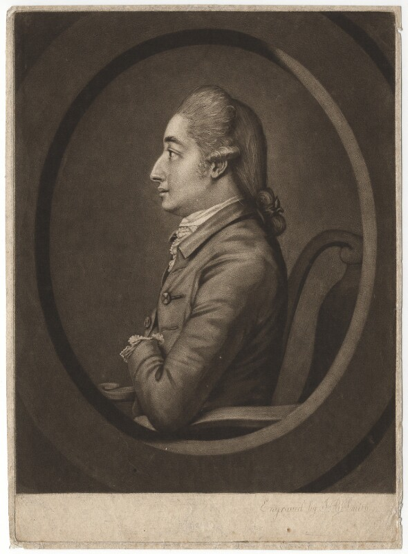 Sir Henry Harpur, 6th Bt, by John Raphael Smith, after  Unknown artist, late 18th century - NPG D2572 - © National Portrait Gallery, London