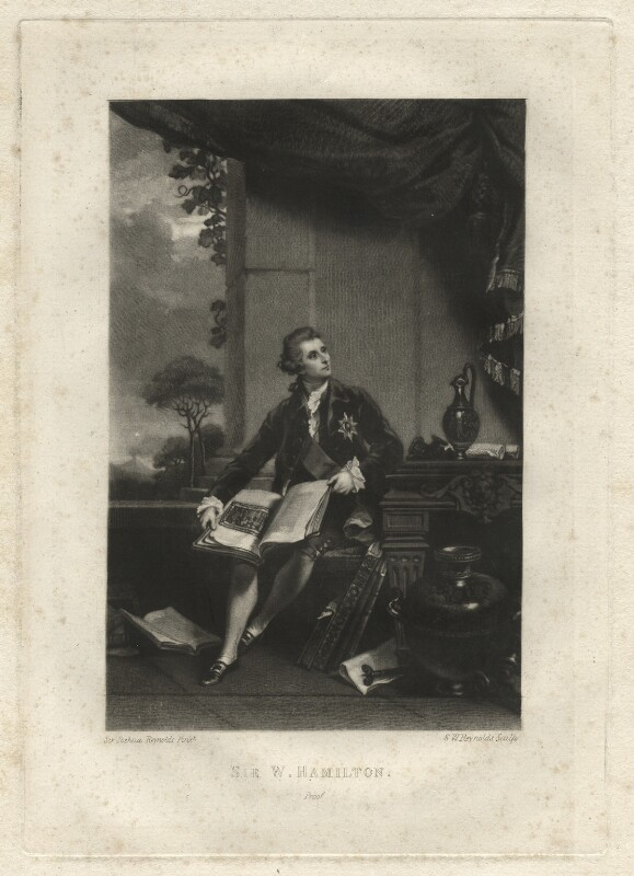 Sir William Hamilton, by Samuel William Reynolds, after  Sir Joshua Reynolds, published 1820 - NPG D2580 - © National Portrait Gallery, London