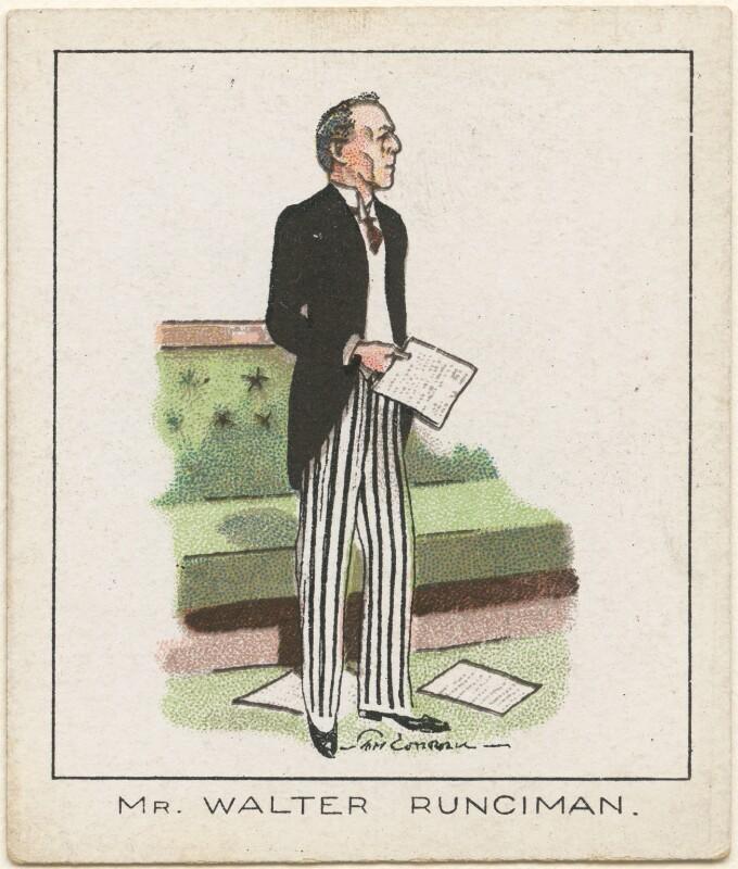 Walter Runciman, 1st Viscount Runciman of Doxford, by Tom Cottrell, 1929 - NPG D2630 - © National Portrait Gallery, London