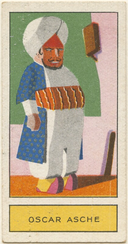 (Thomas Stange Heiss) Oscar Asche as Abu Hasan in 'Chu Chin Chow', by Unknown artist, issued by  Godfrey Phillips, 1932 - NPG D2712 - © National Portrait Gallery, London