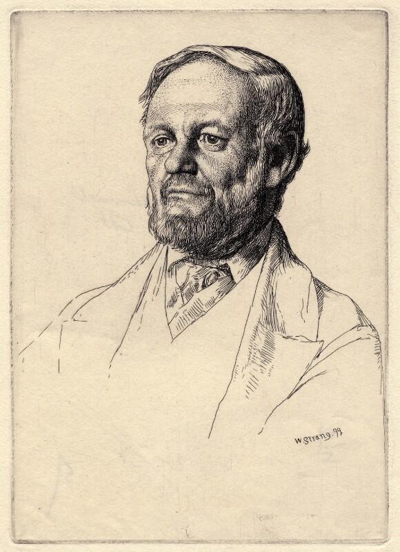 Richard Garnett, by William Strang, 1899 - NPG D2742 - © National Portrait Gallery, London