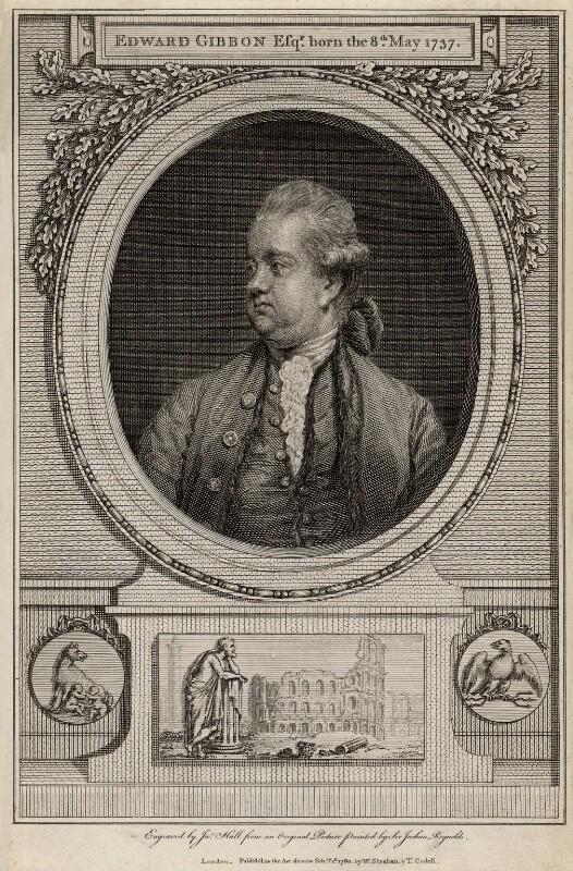 Edward Gibbon, by John Hall, after  Sir Joshua Reynolds, published 1780 (1779) - NPG D2757 - © National Portrait Gallery, London