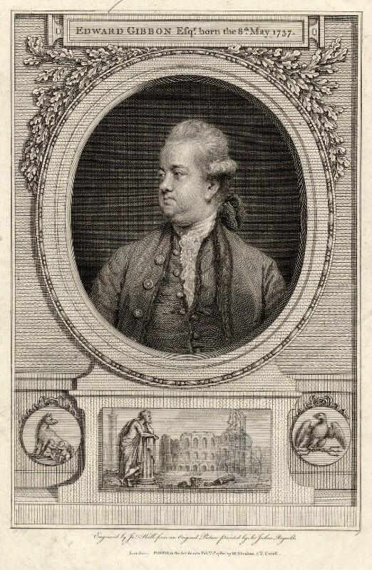 Edward Gibbon, by John Hall, after  Sir Joshua Reynolds, published 1780 (1779) - NPG D2758 - © National Portrait Gallery, London