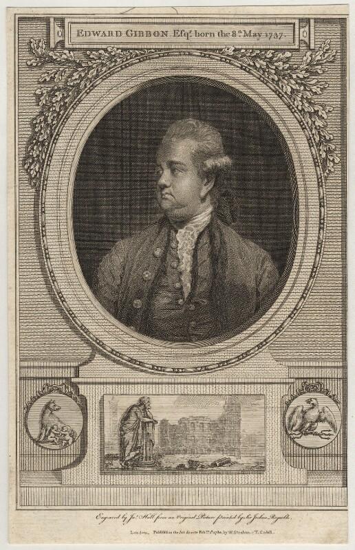 Edward Gibbon, by John Hall, after  Sir Joshua Reynolds, published 1780 (1779) - NPG D2759 - © National Portrait Gallery, London