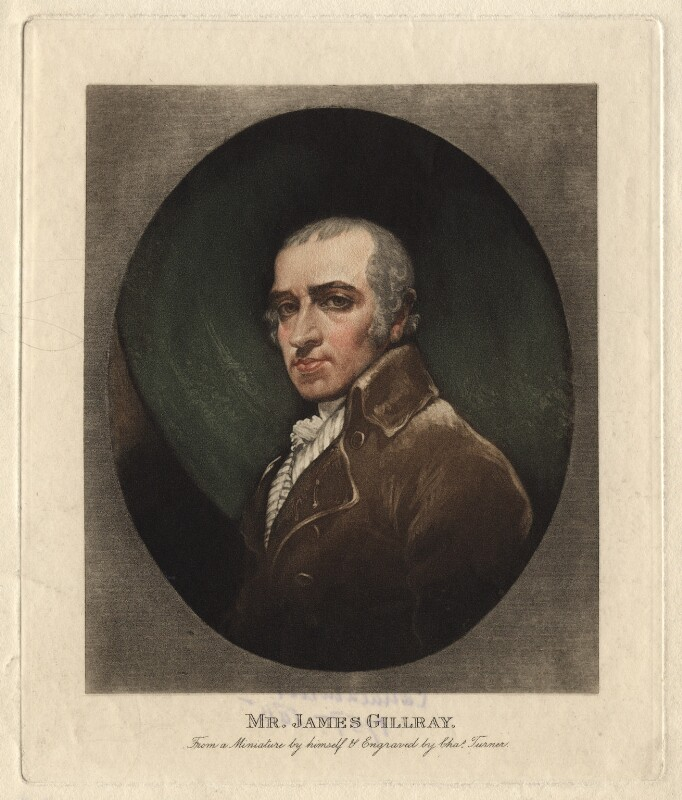 James Gillray, by Charles Turner, after  James Gillray, circa 1819 (circa 1800) - NPG D2775 - © National Portrait Gallery, London