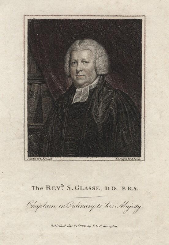 Samuel Glasse, by William Bond, after  George Francis Joseph, published 1803 - NPG D2779 - © National Portrait Gallery, London
