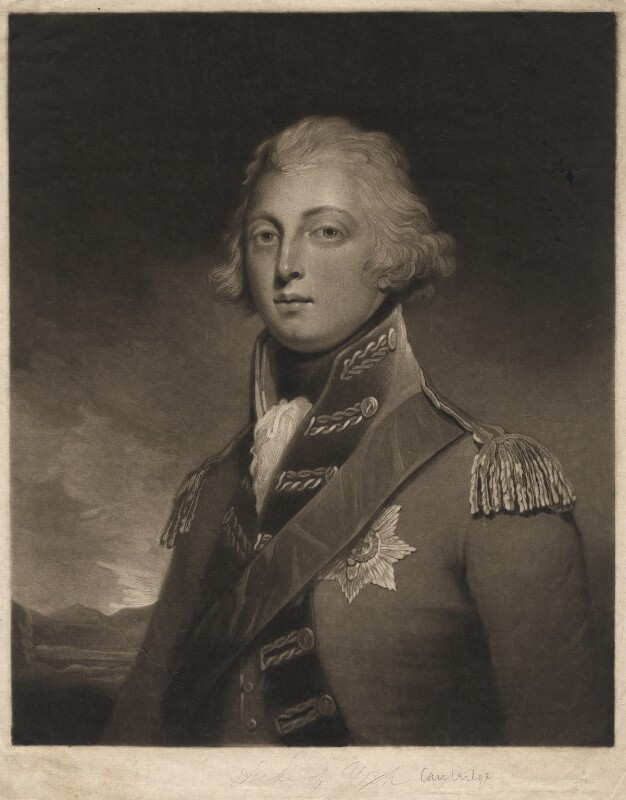 William Frederick, 2nd Duke of Gloucester, by Edward Bell, after  John Westbrooke Chandler, published 1799 - NPG D2782 - © National Portrait Gallery, London