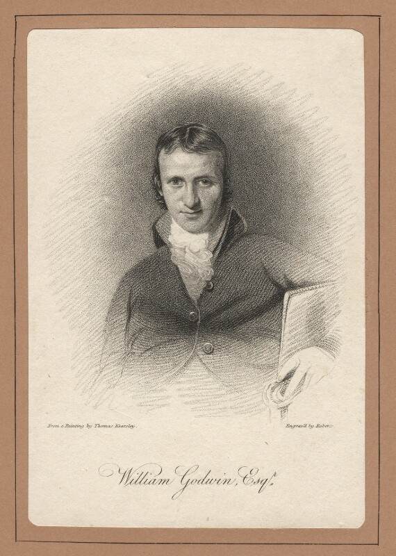 William Godwin, by Miss Roberts, after  Thomas Kearsley, published 1821 - NPG D2789 - © National Portrait Gallery, London
