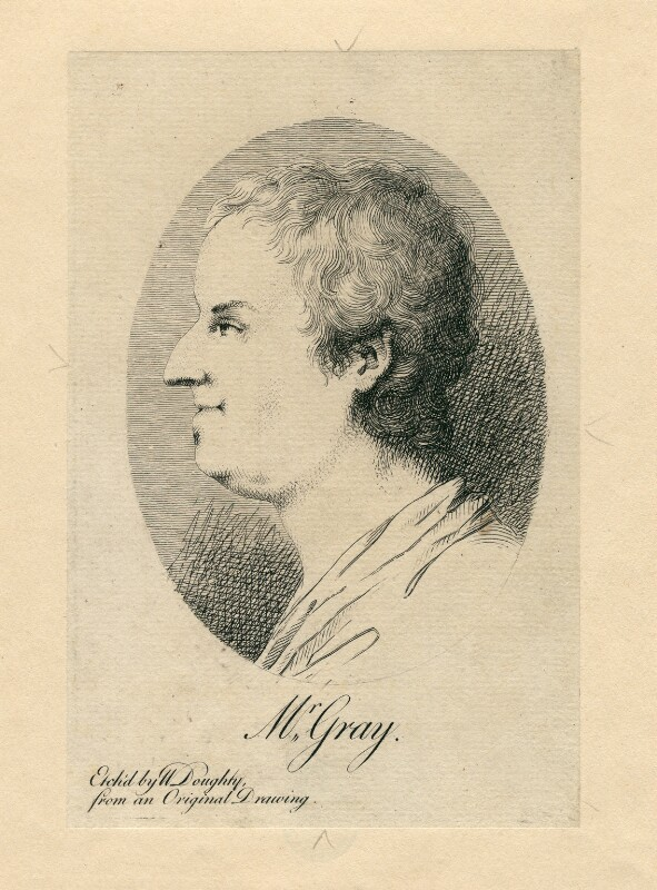 Thomas Gray, by William Doughty, after  William Mason, published 1778 - NPG D2801 - © National Portrait Gallery, London