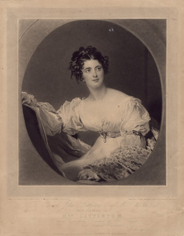 Hyacinthe Mary Littleton (née Wellesley), Lady Hatherton, by Charles Turner, published by  Colnaghi, Son & Co, after  Sir Thomas Lawrence, published 26 March 1827 - NPG D2969 - © National Portrait Gallery, London