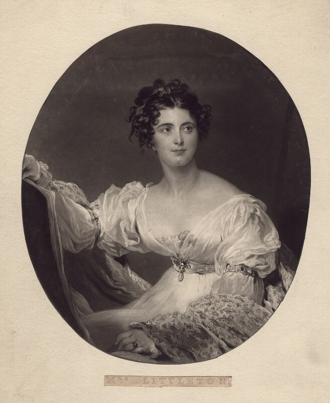 Hyacinthe Mary Littleton (née Wellesley), Lady Hatherton, by Charles Turner, after  Sir Thomas Lawrence, published 1827 - NPG D2970 - © National Portrait Gallery, London