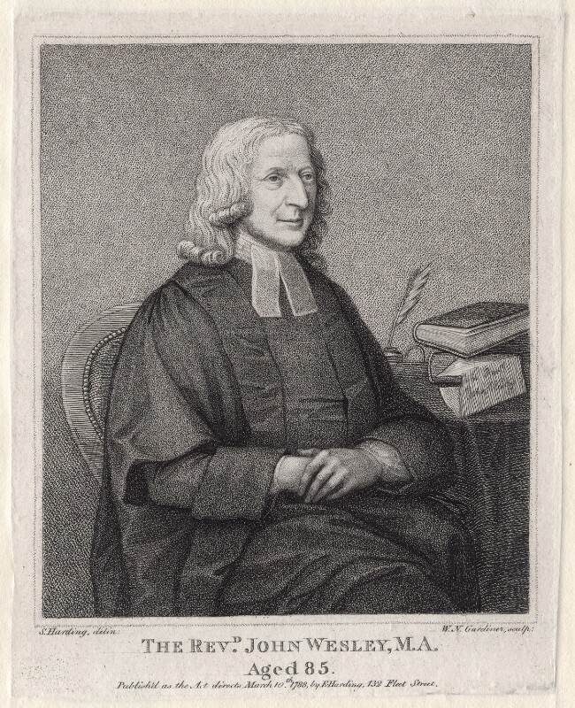 John Wesley, by William Nelson Gardiner, published by  Edward Harding, after  Silvester Harding, published 10 March 1788 - NPG D2978 - © National Portrait Gallery, London