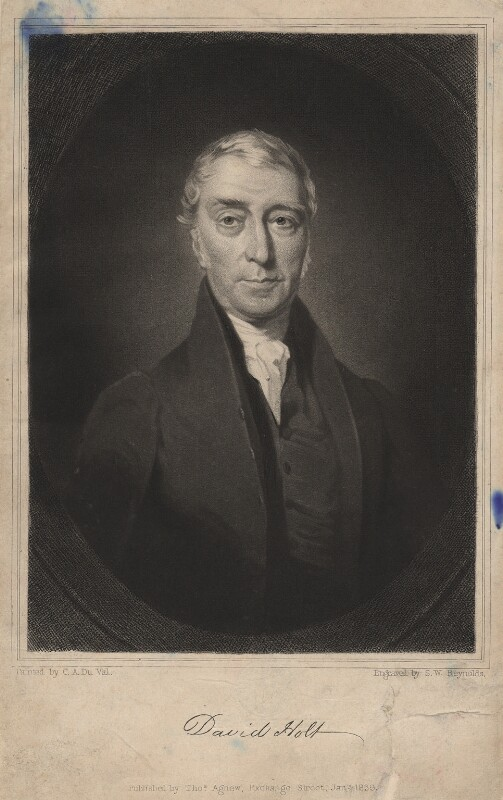 David Holt, by Samuel William Reynolds Jr, after  Charles Allen Duval, published 1839 - NPG D3038 - © National Portrait Gallery, London