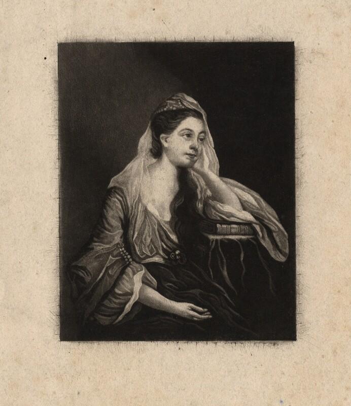 Hannah Horneck (née Mangles), after Sir Joshua Reynolds, (circa 1758-1763) - NPG D3045 - © National Portrait Gallery, London