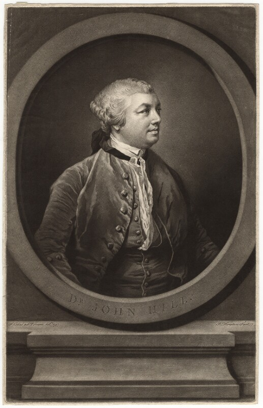 Sir John Hill, by Richard Houston, after  Francis Cotes, (1757) - NPG D3047 - © National Portrait Gallery, London