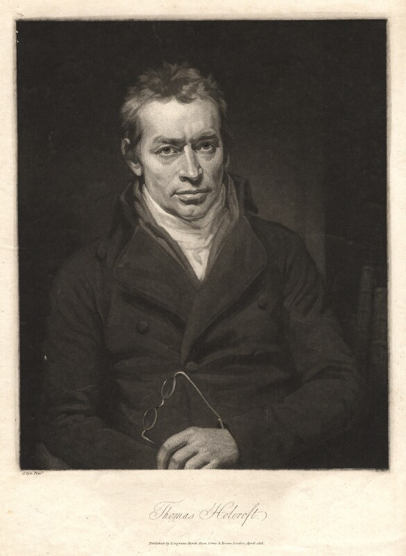 Thomas Holcroft, by Thomas Hodgetts, after  John Opie, published 1816 (circa 1804) - NPG D3066 - © National Portrait Gallery, London