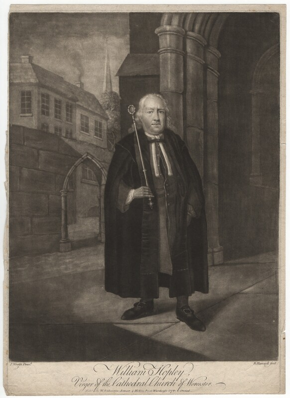 William Hopley, by Robert Hancock, after  Joseph Wright, circa 1755-1788 - NPG D3089 - © National Portrait Gallery, London