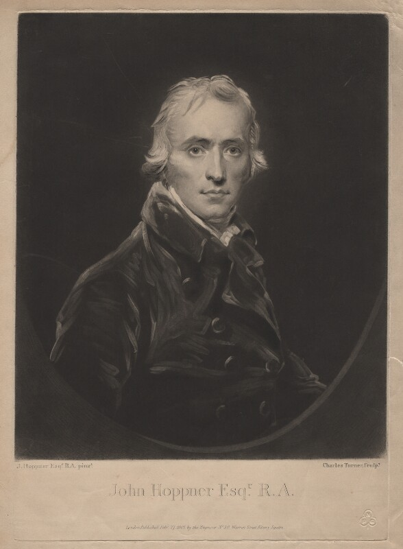 John Hoppner, by and published by Charles Turner, after  John Hoppner, published 27 February 1805 (circa 1800) - NPG D3090 - © National Portrait Gallery, London