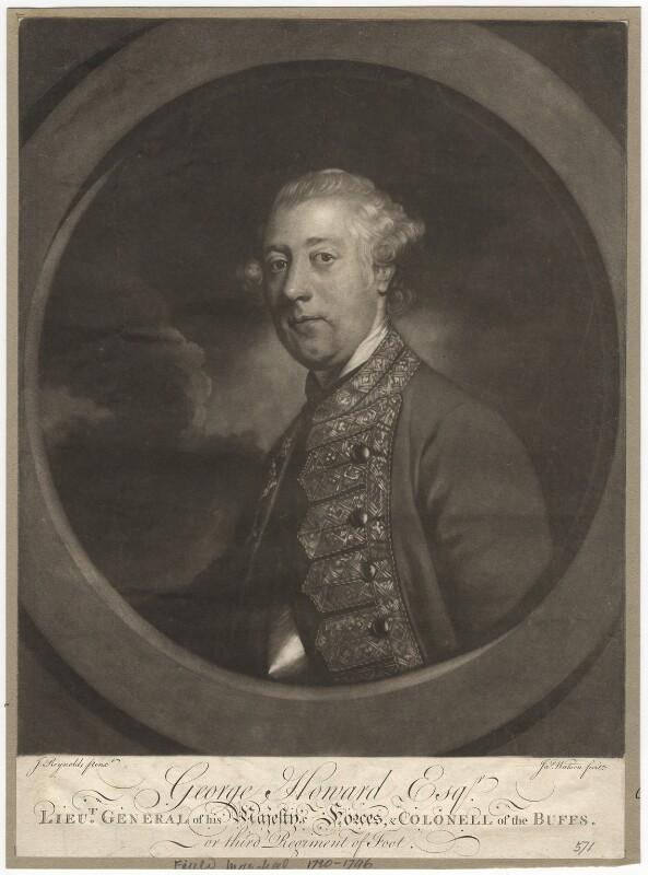 Sir George Howard, by James Watson, after  Sir Joshua Reynolds, (1758-1762) - NPG D3110 - © National Portrait Gallery, London