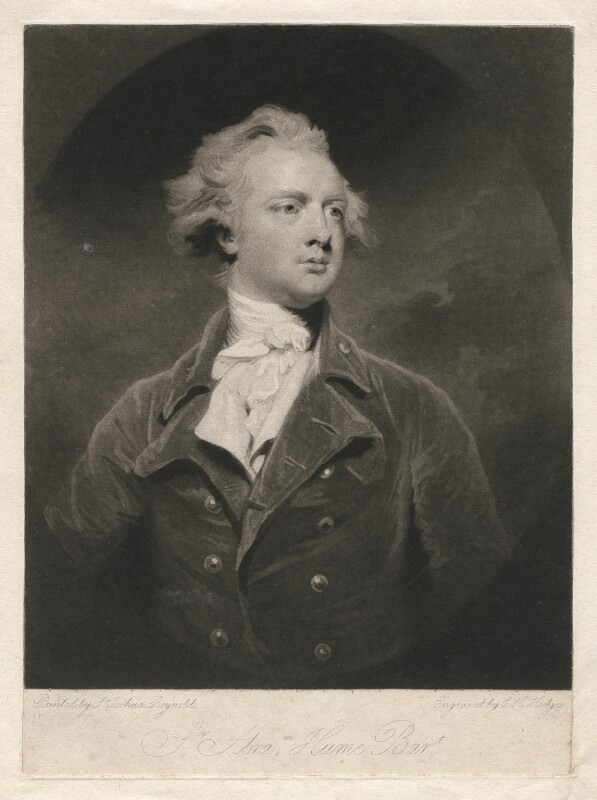 Sir Abraham Hume, 2nd Bt, by Charles Howard Hodges, after  Sir Joshua Reynolds, published 1791 (1783) - NPG D3122 - © National Portrait Gallery, London