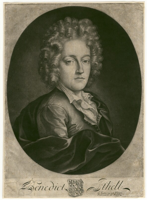 Benedict Ithell, by William Faithorne Jr, circa 1691-1710 - NPG D3140 - © National Portrait Gallery, London