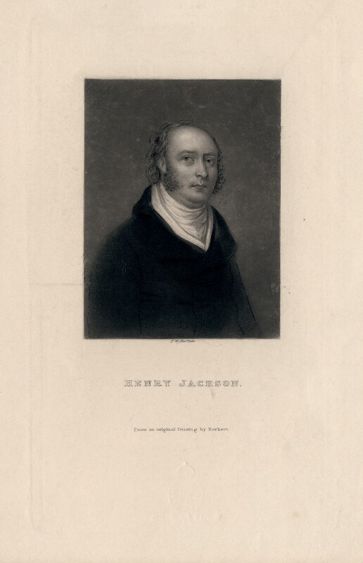 Henry Jackson, by T.W. Huffam, after  Herbert, 1860s? - NPG D3147 - © National Portrait Gallery, London