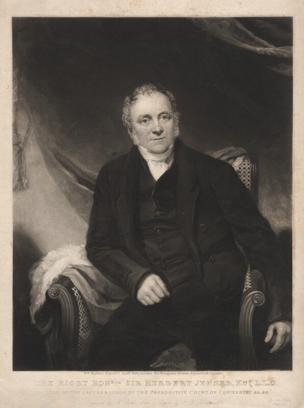 Sir Herbert Jenner-Fust, by and published by William Walker, after  Frederick Yeates Hurlstone, published April 1835 - NPG D3153 - © National Portrait Gallery, London