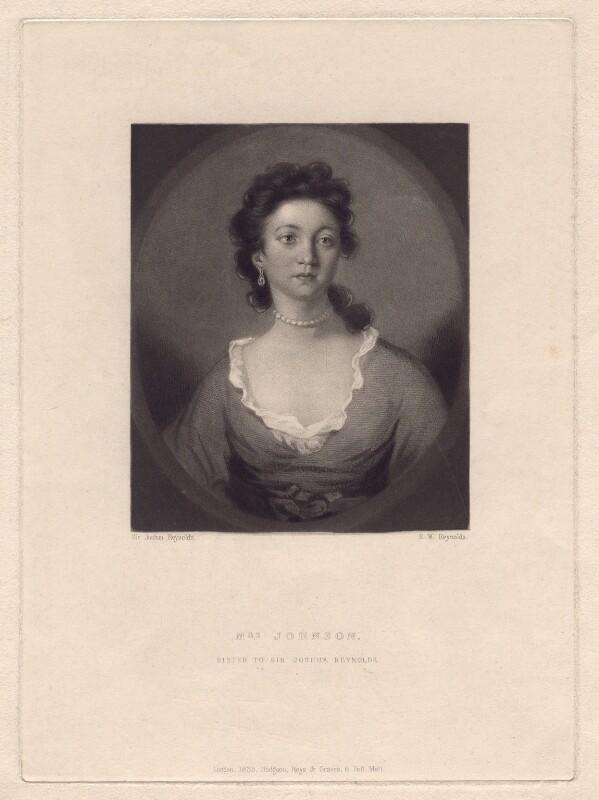 Elizabeth Johnson, by Samuel William Reynolds, after  Sir Joshua Reynolds, published 1835 - NPG D3157 - © National Portrait Gallery, London