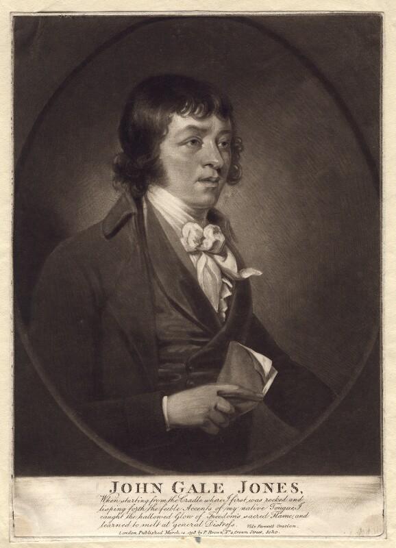 John Gale Jones, published by Peter Brown, published 14 March 1798 - NPG D3161 - © National Portrait Gallery, London