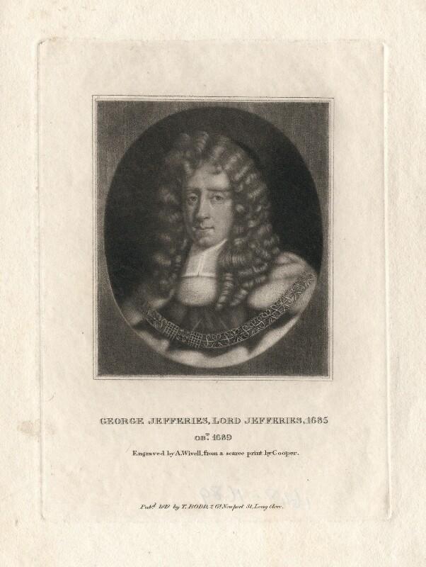 George Jeffreys, 1st Baron Jeffreys of Wem, by Abraham Wivell, after  Sir Godfrey Kneller, Bt, published 1819 - NPG D3166 - © National Portrait Gallery, London