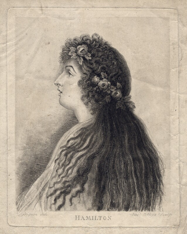 Emma Hamilton, by Vincenzo Aloja, after  Charles Grignion, late 18th century - NPG D3203 - © National Portrait Gallery, London