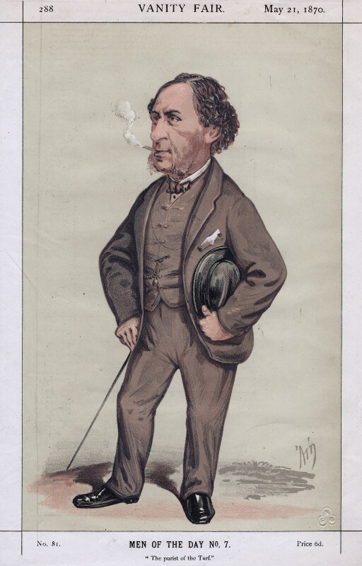 Sir Joseph Henry Hawley, 3rd Bt ('The purist of the turf'), by Alfred Thompson (Atn), published 1870 - NPG D3238 - © National Portrait Gallery, London