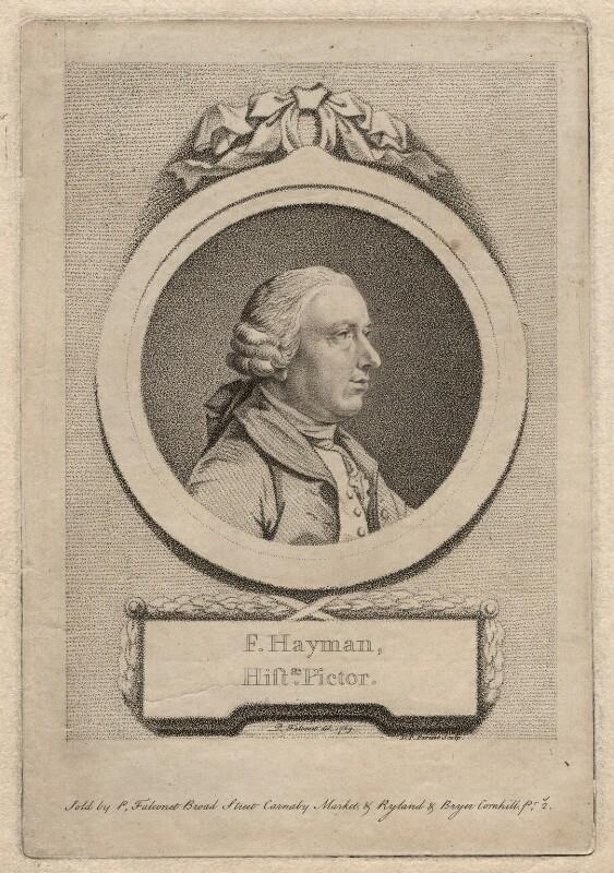 Francis Hayman, by D.P. Pariset, after  Pierre-Étienne Falconet, 1769 - NPG D3239 - © National Portrait Gallery, London