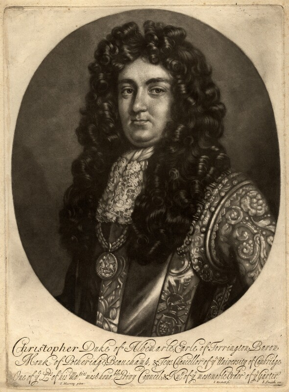 Christopher Monck, 2nd Duke of Albemarle, by John Smith, published by  Isaac Beckett, after  Thomas Murray, 1681-1688 - NPG D325 - © National Portrait Gallery, London