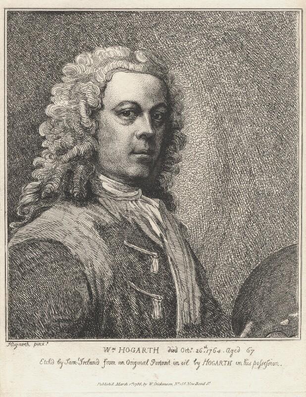 William Hogarth, by Samuel Ireland, after  William Hogarth, published 1786 - NPG D3259 - © National Portrait Gallery, London